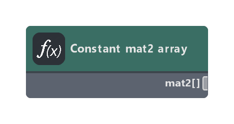 Constant mat2 array