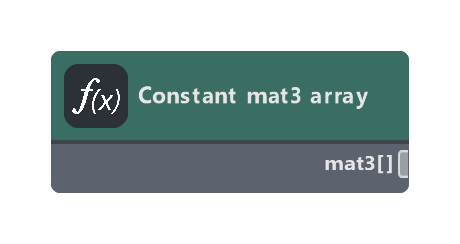Constant mat3 array