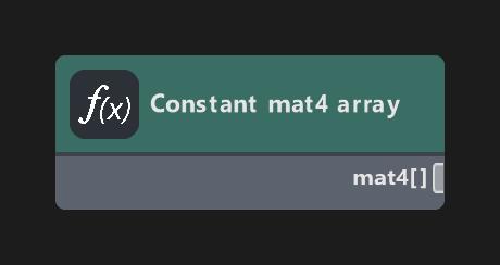 Constant mat4 array