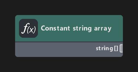 Constant string array
