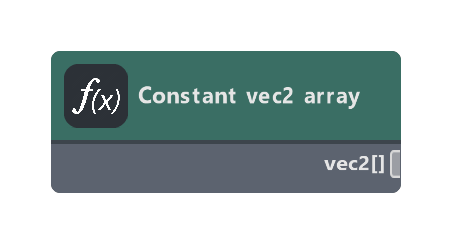 Constant vec2 array