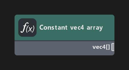 Constant vec4 array