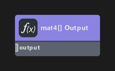 mat4 Array Output