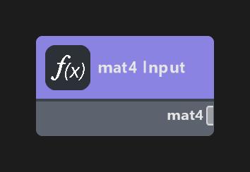 mat4 Input