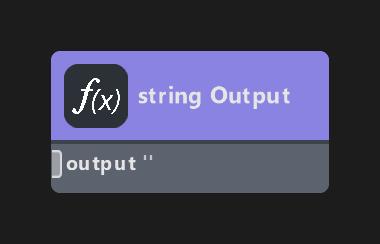 string Output