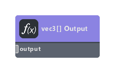 vec3 Array Output