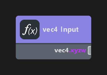 vec4 Input
