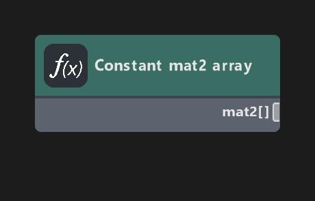 Constant mat2 array