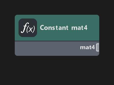 Constant mat4