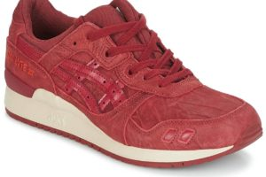 asics gel lyte 3 mens red red trainers mens