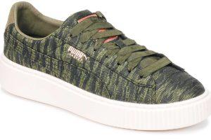 puma basket green