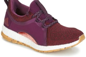 adidas pure boost womens red red trainers womens