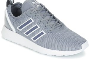 adidas zx flux mens grey grey trainers mens