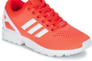 adidas zx flux mens red red trainers mens
