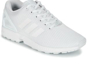 adidas zx flux mens white white trainers mens