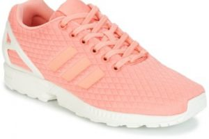 adidas zx flux womens pink pink trainers womens