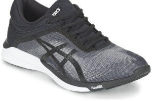 asics fuzex womens black black trainers womens