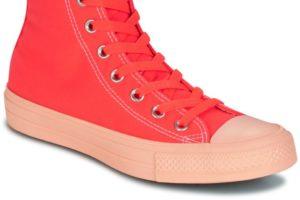 converse all star high womens orange orange trainers womens