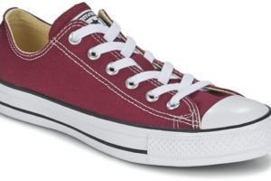 converse all star ox mens red red trainers mens