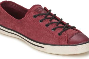 converse all star ox womens red red trainers womens