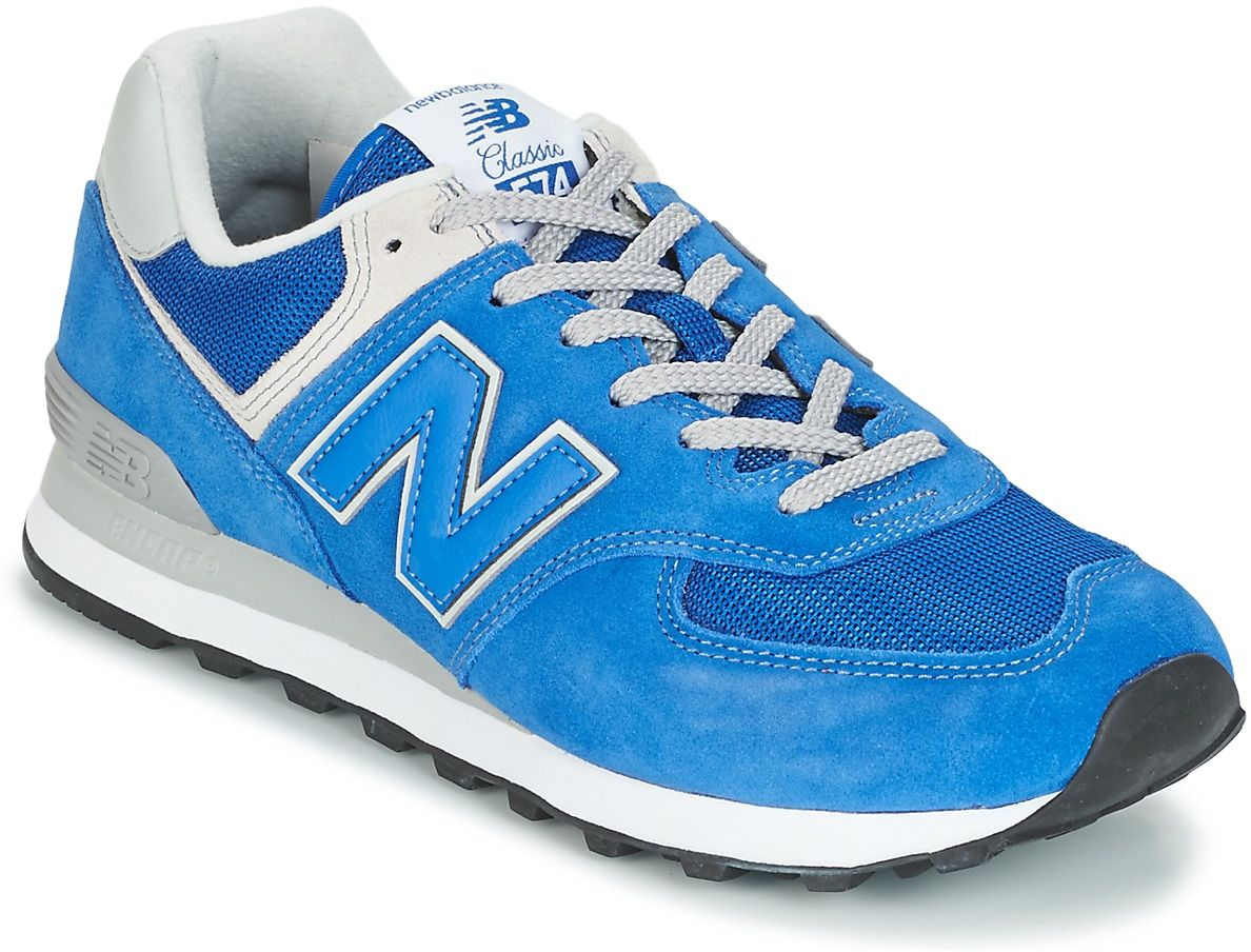new balance 574 mens blue blue trainers mens