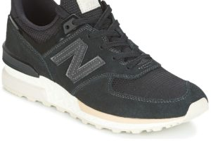 new balance 574 womens black black trainers womens