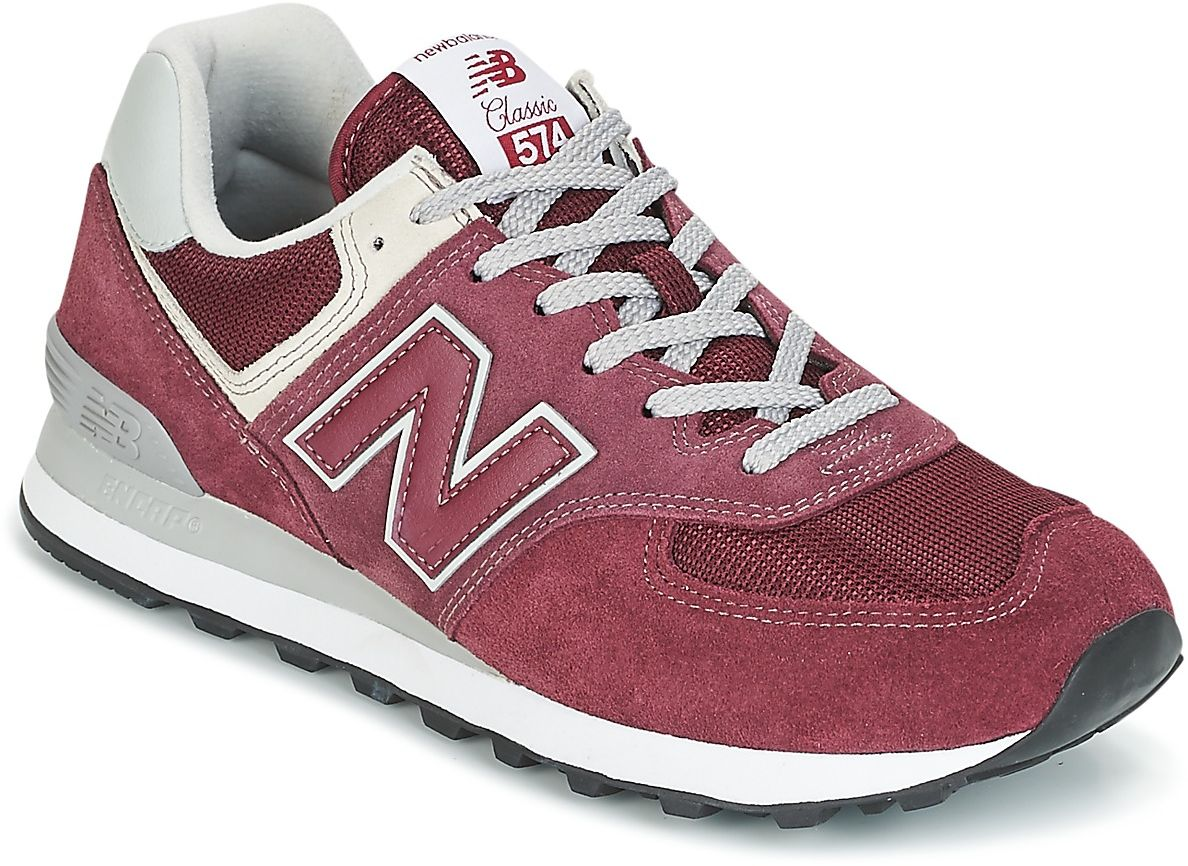 new balance 574 womens red red trainers womens