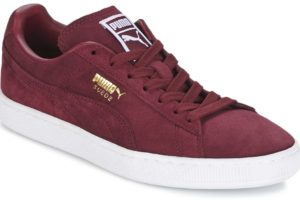 puma suede mens red red trainers mens