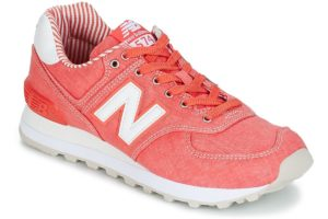 new balance 574 womens orange orange trainers womens