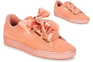 puma suede womens orange orange trainers womens