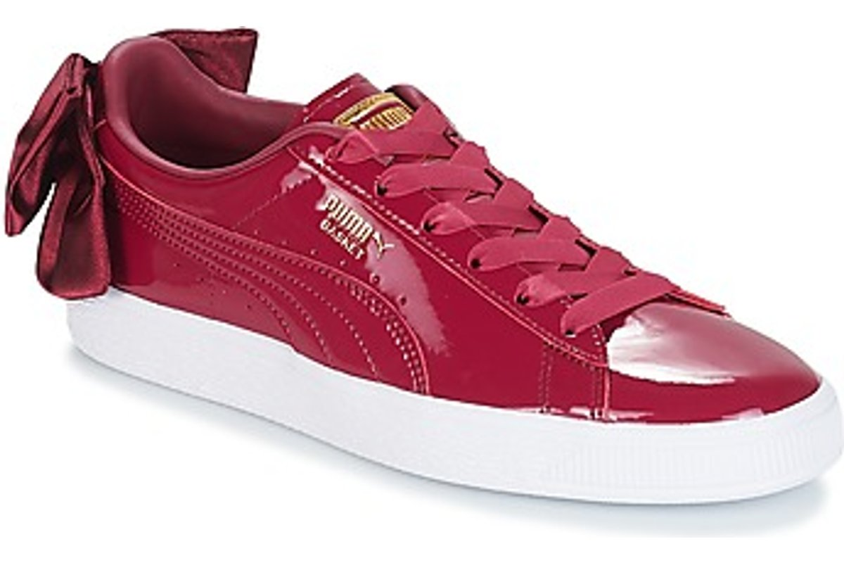 puma suede womens red red trainers womens