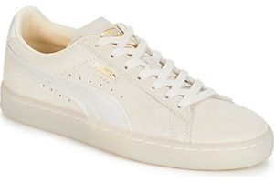 puma suede womens white white trainers womens