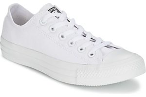 converse all star ox mens white white trainers mens