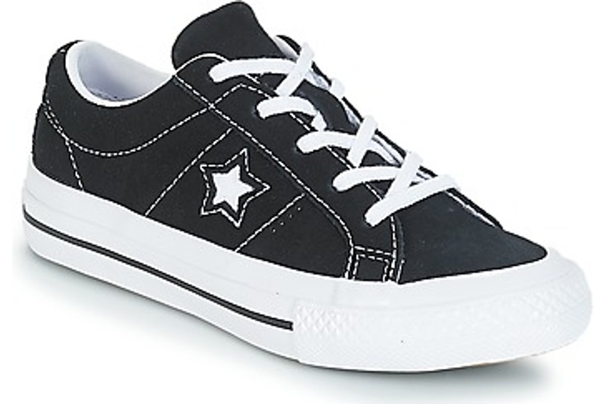 converse black girl one star