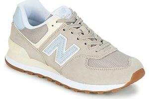 new balance 574 womens beige beige trainers womens