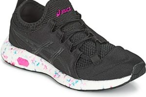 asics hyper gel sai womens black black trainers womens