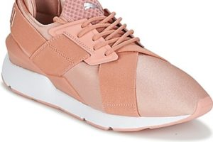 puma muse womens pink pink trainers womens