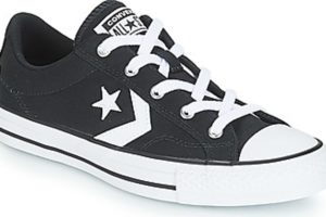 converse star player mens black black trainers mens