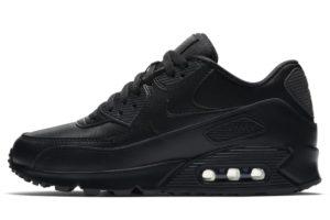 nike-air max 90-womens-black-325213-057-womens-black-trainers