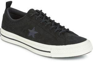 converse one star mens black black trainers mens