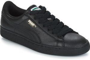 puma basket mens black black trainers mens