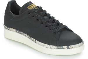 adidas stan smith womens black black trainers womens