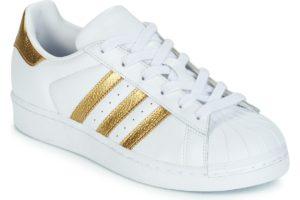 adidas superstar womens white white trainers womens
