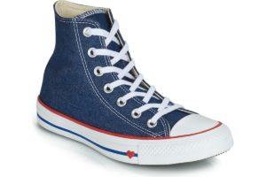 converse all star high womens blue blue trainers womens