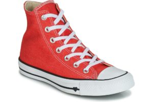 converse all star high womens red red trainers womens