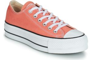 converse all star ox womens orange orange trainers womens