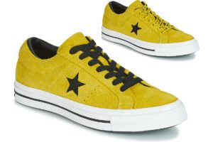 converse one star mens yellow yellow trainers mens