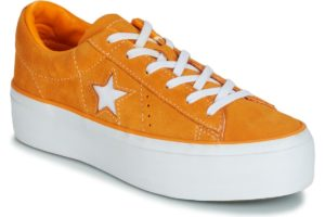 converse one star womens orange orange trainers womens