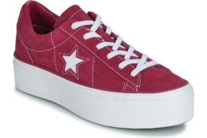 converse one star womens pink pink trainers womens
