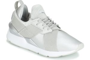puma muse womens grey grey trainers womens